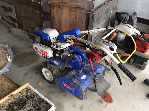 イセキの耕運機を岩沼市のお客様より買い取りしました。