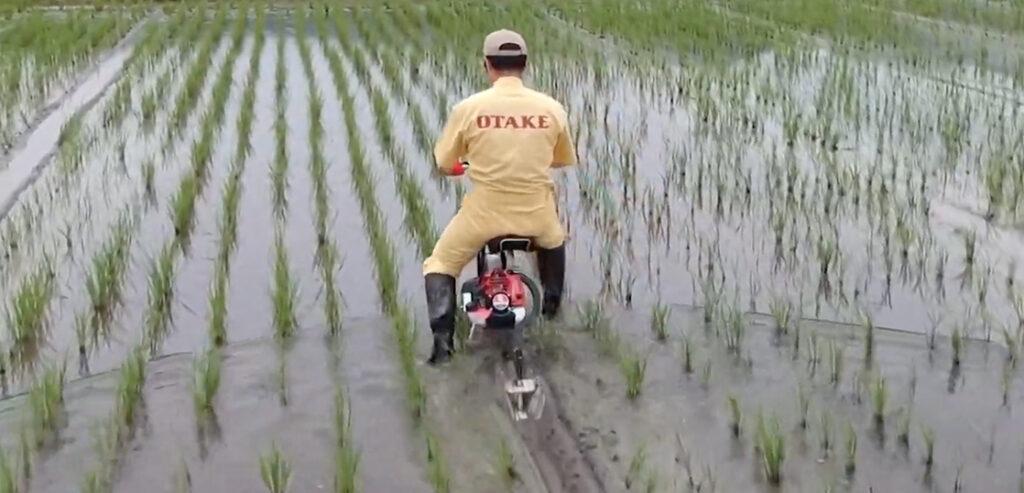 YouTube:水田乗用溝切機 のるたん NR-1@OTAKE-SS 画像